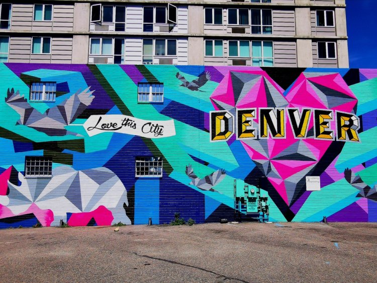 Love this city mural denver RiNo arts district