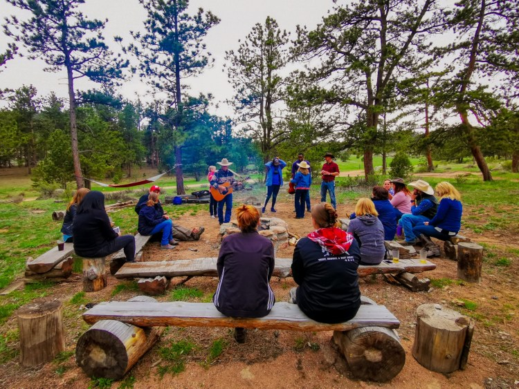 campfire Sundance Trail Guest Ranch Colorado