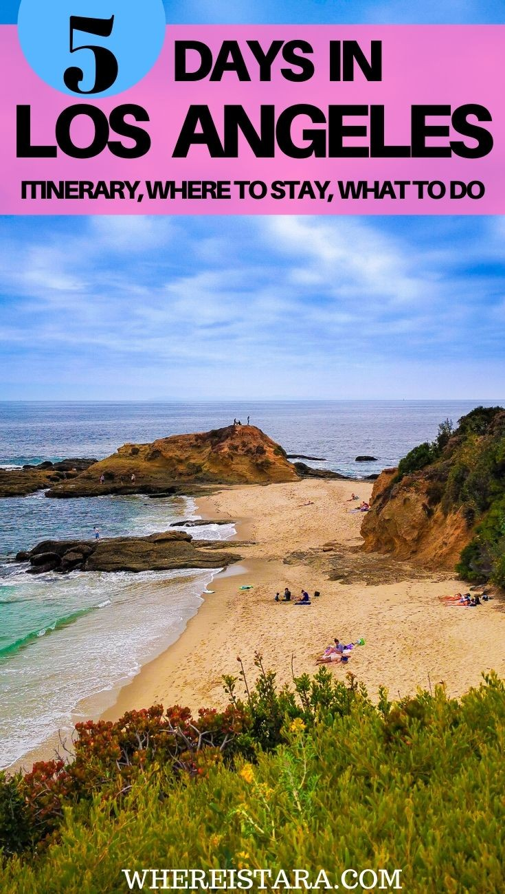 5 Days in L.A los angeles itinerary pin (1)