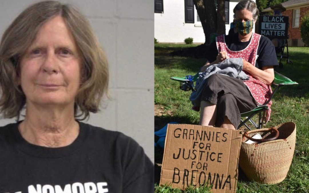 68-Year-Old Mary Holden Was Arrested For Trespassing While Peacefully Protesting On AG Daniel Jay Cameron Lawn