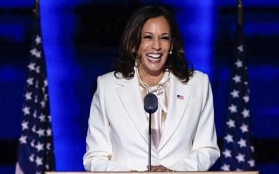 Kamala Harris praises Black women as 'the backbone of our democracy' during victory speech