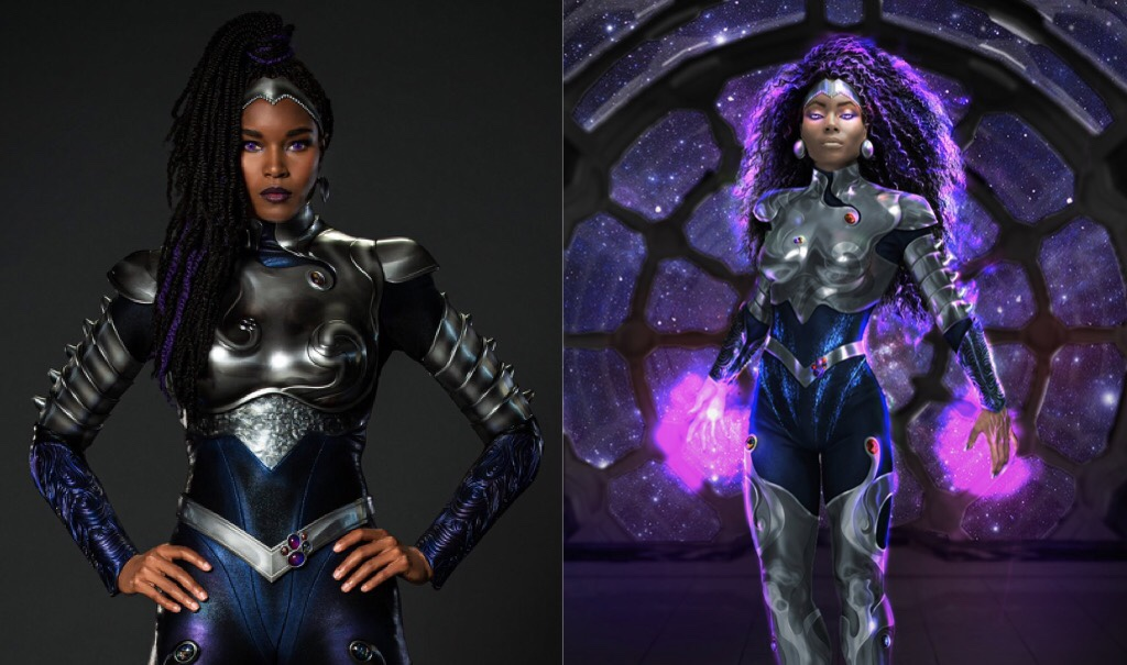"HBO Max Unveils New ""Blackfire"" Supersuit From Season Three of TITANS"