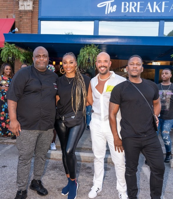 Cynthia Bailey Hosts The Breakfast Boys Grand Opening in ATL w/ Juan & Gee Smalls and Lorenzo Wyche