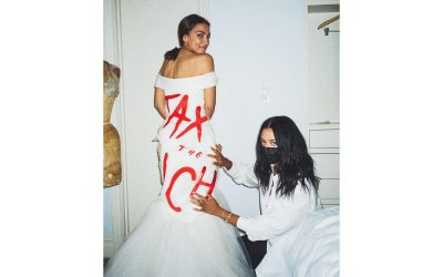 """AOC Responds to Criticism About Her Met Gala """"Tax The Rich"""" Dress"""