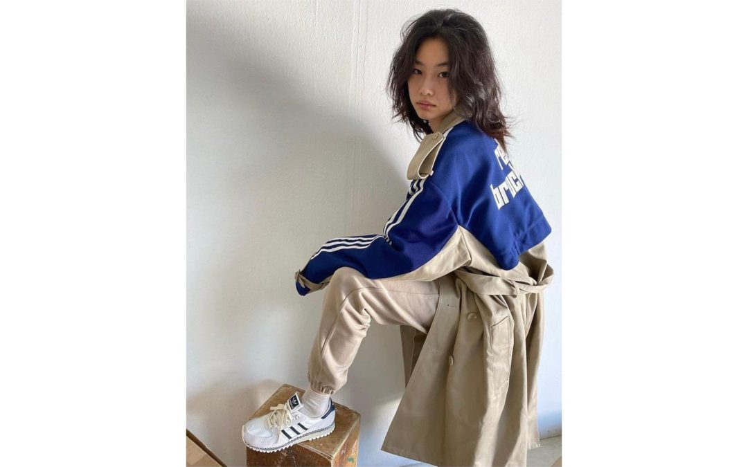 Squid Game's HoYeon Jung For Adidas Blue Version