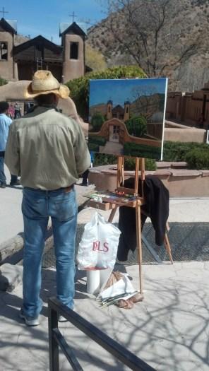 A Plein Air Painter at the Church