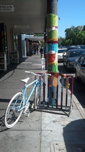 Yarn Bombing Petaluma, CA