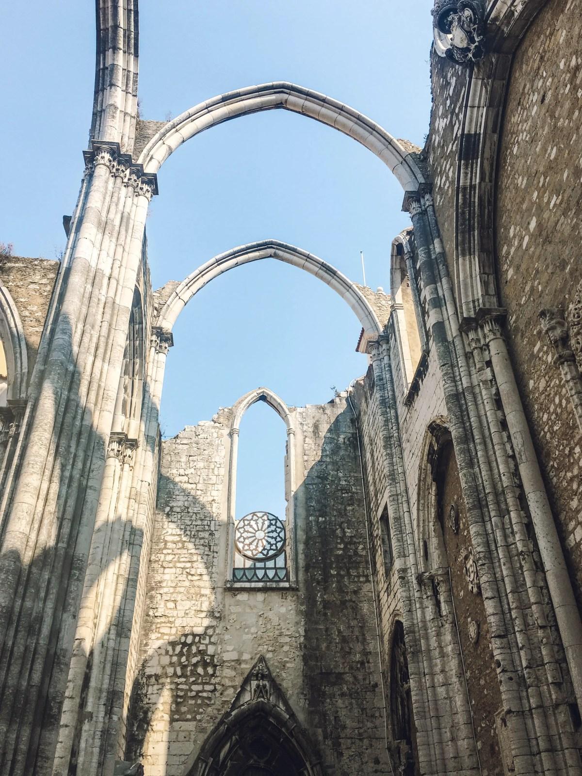 carmo ruins in Lisbon, Portugal