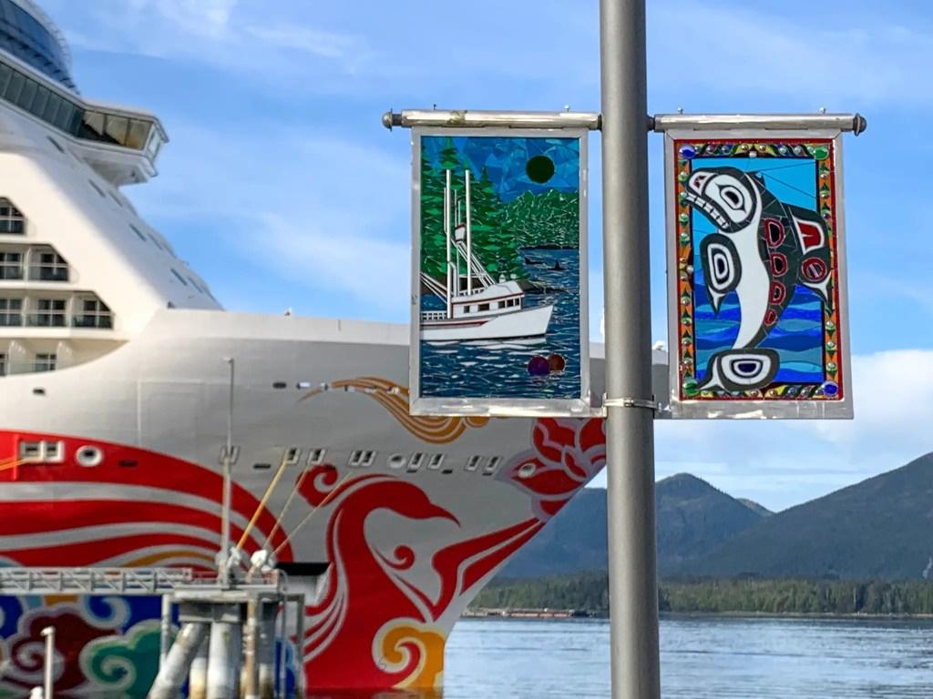 Norwegian Joy cruise ship in Ketchikan, Alaska