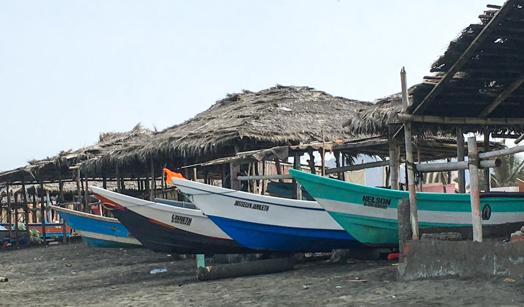 Fishing boats in San Jacinto, Ecuador