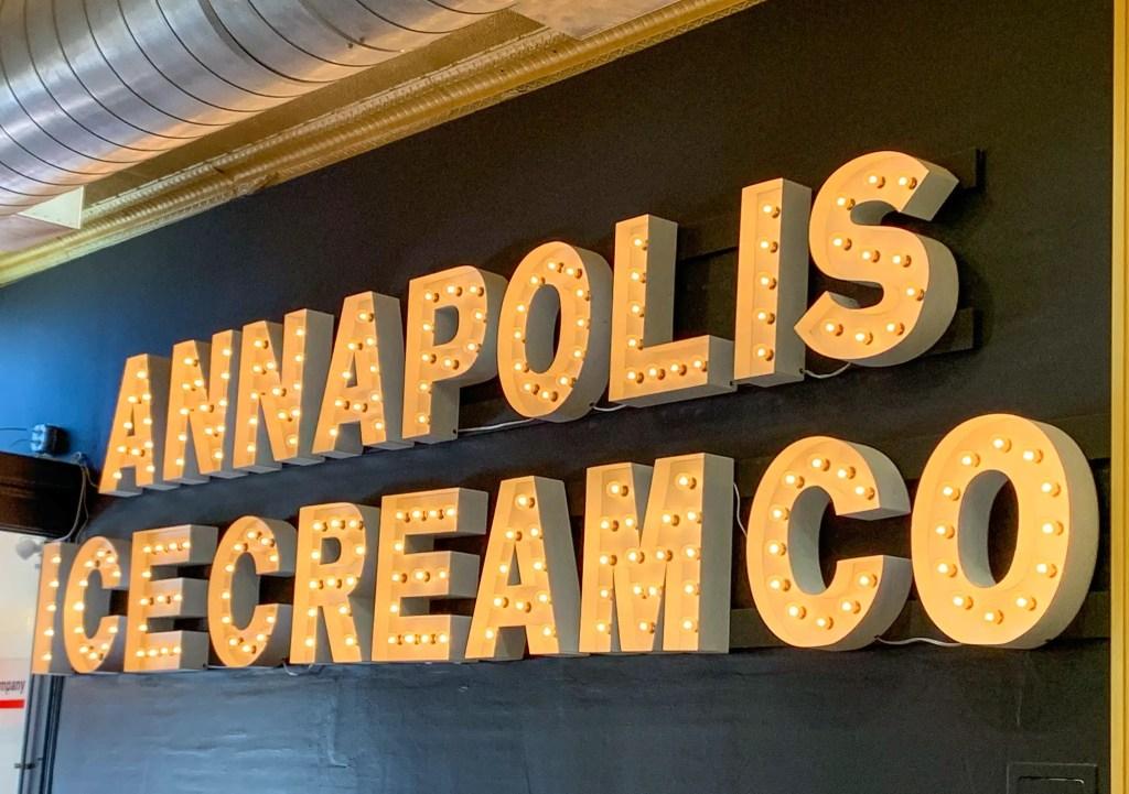 Annapolis Ice Cream sign