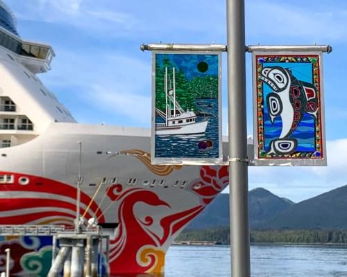 cruise ship in Ketchikan, Alaska
