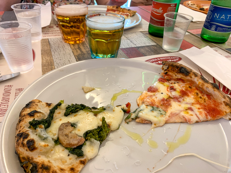 pizza in Naples, Italy