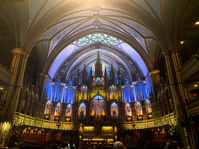 Notre Dame Cathedral in Montreal, Canada