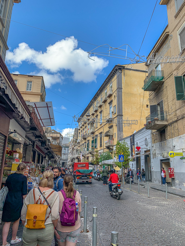 Is Naples safe?  Narrow streets in Naples, Italy.