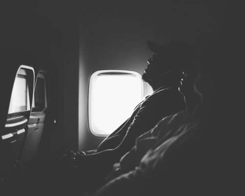 People on an airplane