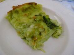 Green lasagne