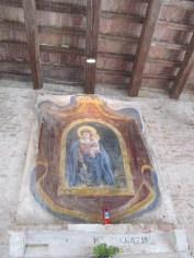 Madonna with baby Jesus: a fresco