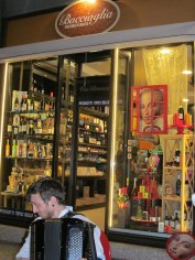 Typical food and chocolate shop in Branca street