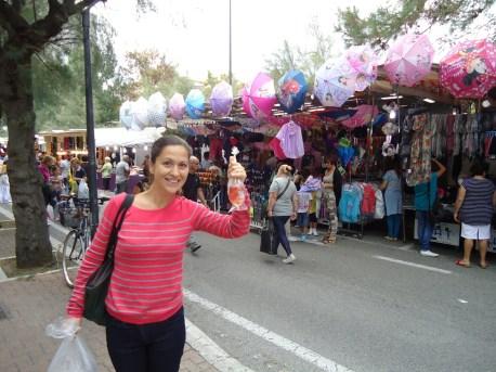 Me showing goldfish at St. Nicholas Fair in Pesaro