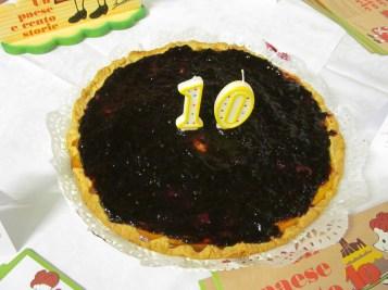 Home-made crostata pie to celebrate Dirce's 10th birthday