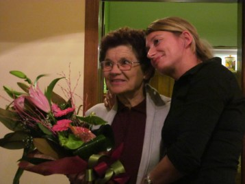 Stefania, our hostess, and her mother