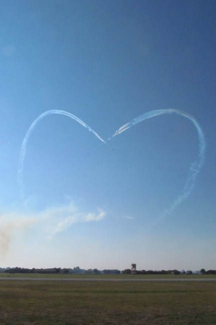 A heart in the sky