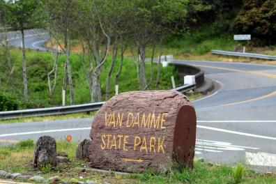 Van Damme State Park along CA HWY 1, Little River California.