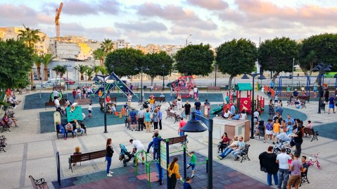 Marsaskala Harbor playground - the stalker is there