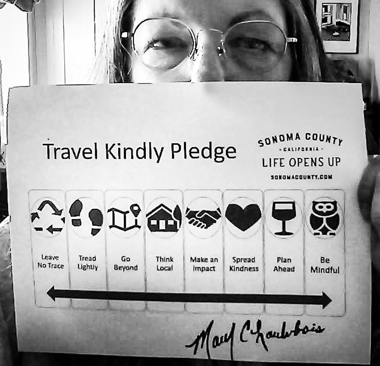 Sonoma County Travel Kindly Pledge