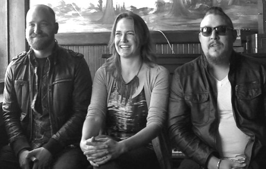 Matthew, Jessica & Mikael - new owners of Golden West Saloon, Fort Bragg, California Photographer: Mary Charlebois