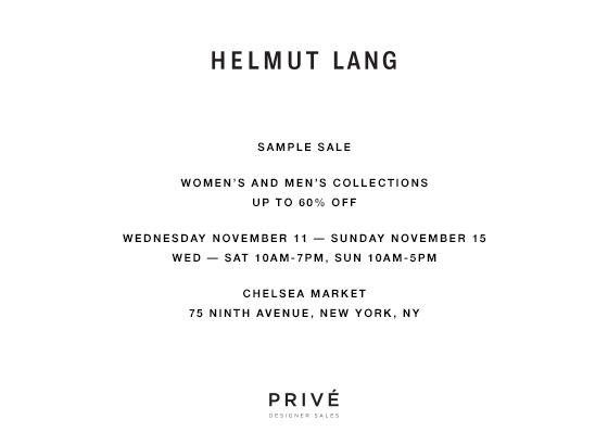 Preview: Helmut Lang sale at Chelsea Food Market – WhereNYC