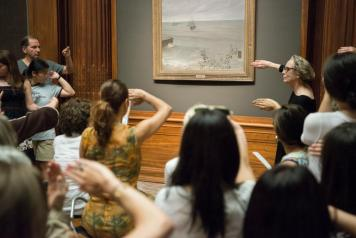 Last month's event featured free tours and sketching in the garden court.