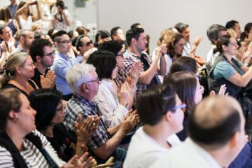 Ripert and Guarnascheilli spoke to a sold-out audience © Andew Kist for MOFAD