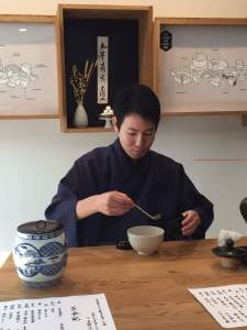 Japanese tea ceremony accompanied by Cantal © Kaori Mahajan for WhereNYC
