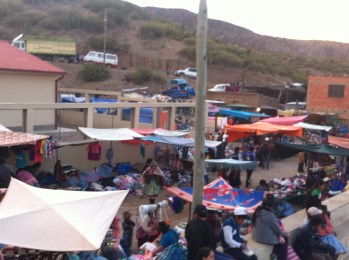 The street market during the Calcha festival