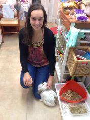 Their bunny, Tambor