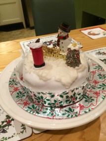 Our lovely decorated Christmas cake!