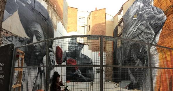 Some cool street art, León