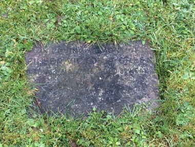 The very forlorn grave marker for my Nana