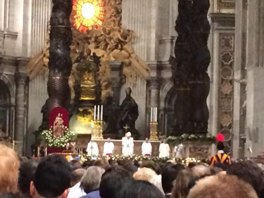 Pope Francis at the Easter VIgil