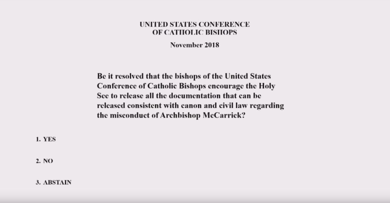 #USCCB18 and the McCarrick Documents