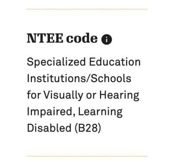 NTEE Code