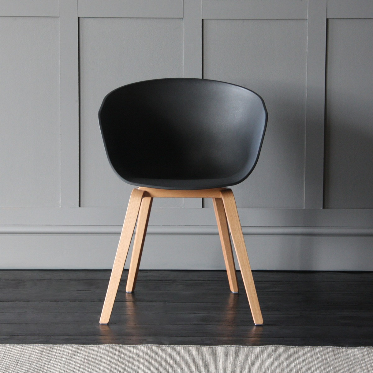 Scandinavian Chair Portobello Scandinavian Nordic Style Tub Dining Chair Black