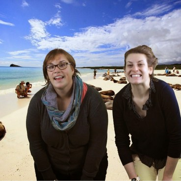 Check out these green screen skills. There are seals behind us but you can't tell.