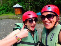 Green vests, red helmets and giant sunnies... we are clearly ready for adventure.