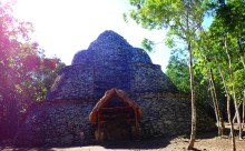 Mayan post station. This was in the middle of ruins and was a place to send and delivery messages from.