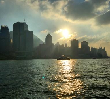 Ferry ride sunset.