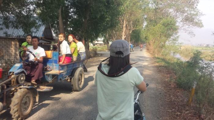 cycling around inle lake