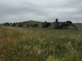 Dinosaurs on the Prairie - a collection of old threshing machines